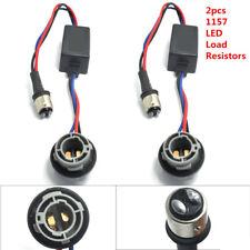 2x 1157 BAY15D LED Bulb No Error Decoder Load Resistor Adapter Turn Signal Light