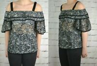 NEXT LADIES BLACK LACE TOP UK SIZE 10 TO 22 AVAILABLE 997