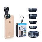 HD 5 in 1 Lens Kit Fisheye Lens+2in1 Macro & Wide Angle+CPL Filter+2X telephoto