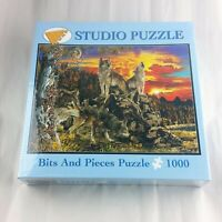 Bits and Pieces 1000 Jigsaw Puzzles Wolves at Dawn