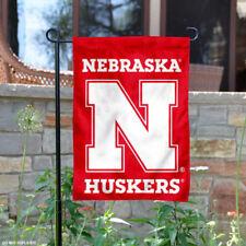 Nebraska Huskers N Logo Garden Flag and Yard Banner