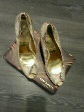 Ted Baker peep toe high heeled shoes size UK8, EU41 USA 10. snake skin look