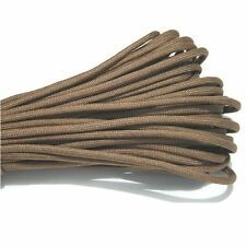 25FT 8m Multi III Stand 7 Cores 550 Paracord Parachute Cord Lanyard #40 Coffe