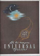 PUBLICITE UNIVERSAL  LE TRI COMPAX GENEVE   1947