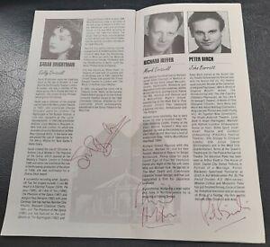 1994 SIGNED Sarah Brightman programme Dangerous Obsession Haymarket Basingstoke