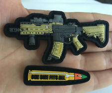 Rubber Army weapons for bullet Tactical Morale Hook PVC Patch Badge armbands