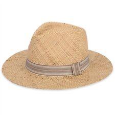 Panamá Estilo Sombrero de Paja Beige Unisex Verano Sol Playa Gorra Borsalino