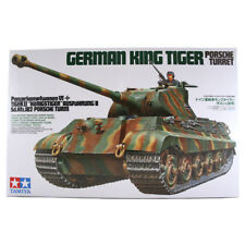 TAMIYA GERMAN KING TIGER PORSCHE TORRETTA TANK MODEL SET SCALA 1:35 35169 NUOVI