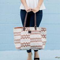Women's Fashion Travel Tote Bag Bohemian Canvas & Leather Large Shoulder Handbag