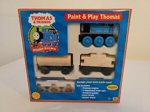 Thomas Wooden Railway rare Paint & Play Thomas New in Box 2003