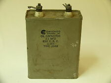 Chicago Condensors Corp. oil capacitor, 2,1µF, 850 volts Ac, Nos