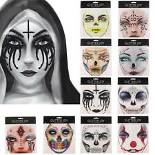 Halloween Skull Eye Face Temporary Tattoos Art Sticker DIY Makeup Cosplay VT