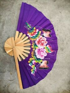 Folding Hand Held Chinese Style Fan Violet