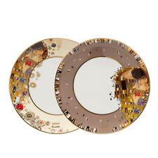 "GOEBEL PORZELLAN Gustav Klimt ""Der Kuss"" 2er Set Frühstücksteller 67013011"