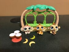 Littlest Pet Shop 1551 1552 1553 Petriplets Monkeys Complete Set Accessories