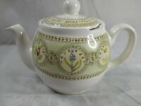 "Vintage GLOBE LONDON Pottery Teapot 2 CUP Signed 5""(12cm) Herbal Tea Design"