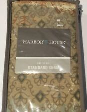 Nip Harbor House Castle Hill Standard Pillow Sham Taupe Brown Blue Green