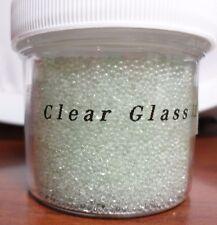Clear Glass  .6-.8mm 30g Jar Micro/Fairy/Craft No Hole Beads USA Shipper