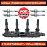 Ignition Coil Pack w 4x Genuine NGK ZFR5F Spark Plugs for Holden Astra AH 1.8L