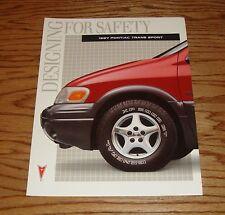 Original 1997 Pontiac Trans Sport Foldout Sales Brochure 97