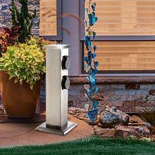 Außen Garten Strom Versorgung Edelstahl 4-Fach Steckdose Haus Energie Verteiler