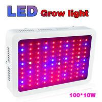 1000W LED Grow Light Lamp Full Spectrum for Flower Medical Indoor Plants 100*10W