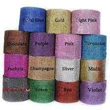Rhinestone Diamond Bling Sparkle Ribbon Mesh Wrap Wedding Decor 13 Colors