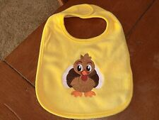 Embroidered Baby Bib - Thanksgiving Turkey -  Yellow Bib