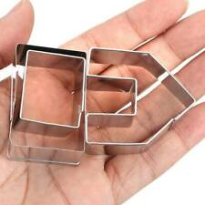 Gingerbread House 3D Steel Stainless Cookie Cutter Set Biscuit Mold  Christmas