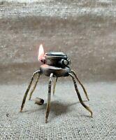 Steampunk Vintage Petrol Lighter table War of the Worlds Handmade Steampunk