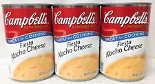 Campbell's Fiesta Nacho Cheese Condensed Soup 10.75 oz 3 Cans Campbells