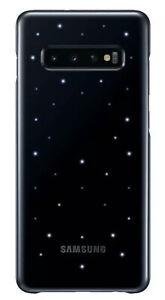 Official Genuine Samsung Galaxy S10+ Plus LED Cover Case Black EF-KG975