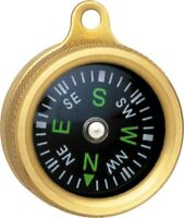 "Marbles MR1147 Pocket Compass 1"" Diameter Luminous Dial Brass body"