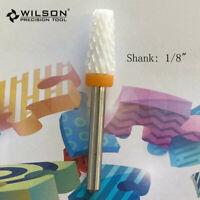 """1/8"""" Large tapered bit XXC 6200513 - WILSON White Ceramic Nail Drill Bit"""