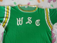 Vintage WSC Dureen Durene Kelly Green Ringer Mason Jersey T Shirt Adult size L