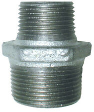 """Galvanised BSP Reducing Hex Nipple Male Fitting,From 3/8"""" x 1/4"""" up to 1"""" x 3/4"""""""