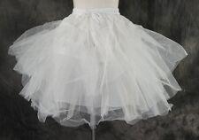 M-04 One Size Unterrock petticoat weiß white Tüll tulle Chiffon für kurzes Kleid