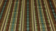 """RICHLOOM CUSH TEAL STRIPE SATEEN UPHOLSTERY FABRIC BY THE YARD 54"""" WIDE"""
