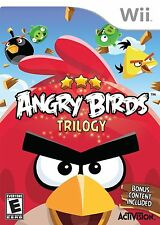 Angry Birds Trilogy (Nintendo Wii, 2013) Original white label