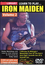Lick Library aprende a jugar Iron Maiden Aces High Rock DVD De Clases Guitarra Vol 2