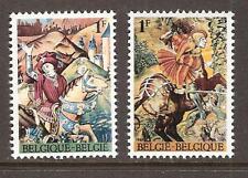 BELGIUM # 692-3 MNH CAESAR CROSSING KILLING A BOAR