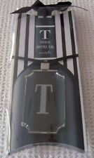 "Mud Pie Acrylic Initial Bottle Tag ""T"" ~ NWT"