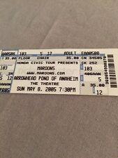 Unused Floor Ticket 2005 Maroon5 Anaheim California!