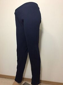 Women's Lauren Conrad Leggings Mid Rise Ankle Cable Knit Navy WL54J002R Sz.XXL
