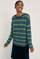 SEASALT Fruity Jumper Blue Ochre Stripe Wool Mix Sweater Size 20