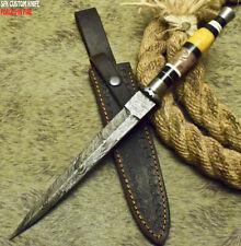Sfk Cutlery Rare Custom Handmade Damascus Art Hunting Boot Dagger Knife Camel Bo