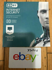 ESET Internet Security 2019 3 PCs 1 Yr Antivirus & Security  [PC-Card] genuine