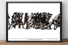 Cartel de obra - JUAN GENOVÉS - Gente corriendo , 1975 - Editado por Museo Reina