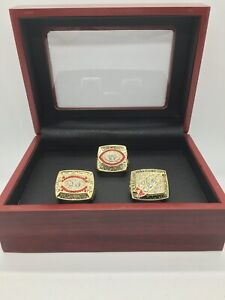 3 Pcs Washington Redskins Super Bowl Championship Ring Set with Display Box