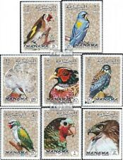 Manama 1040A-1047A (complete.issue.) unmounted mint / never hinged 1972 Birds